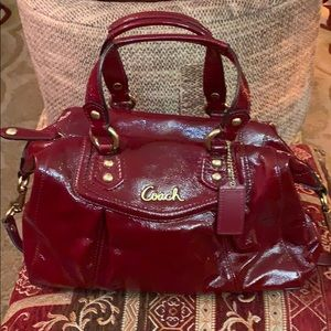 Coach Ashley Satchel - Red